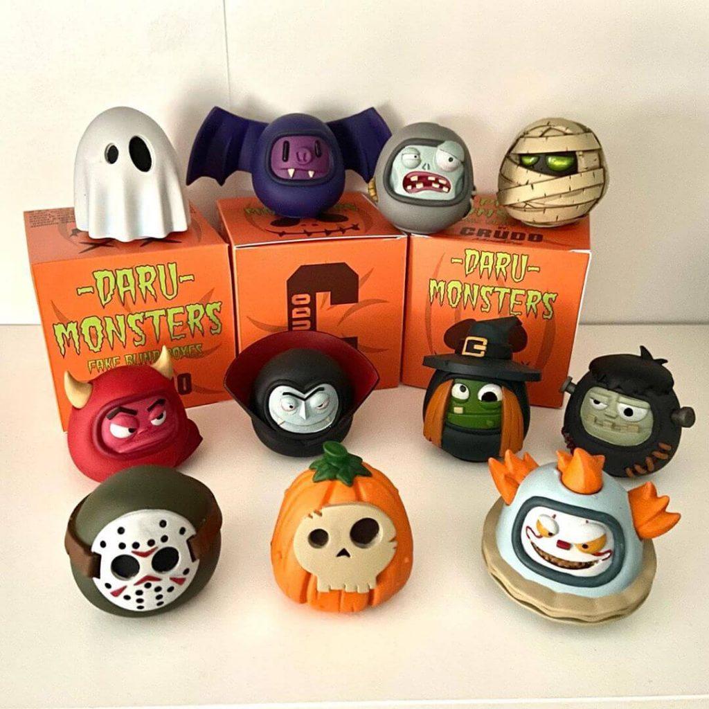 Darumonsters Crudo Miniatures Halloween 2020 Art Toys
