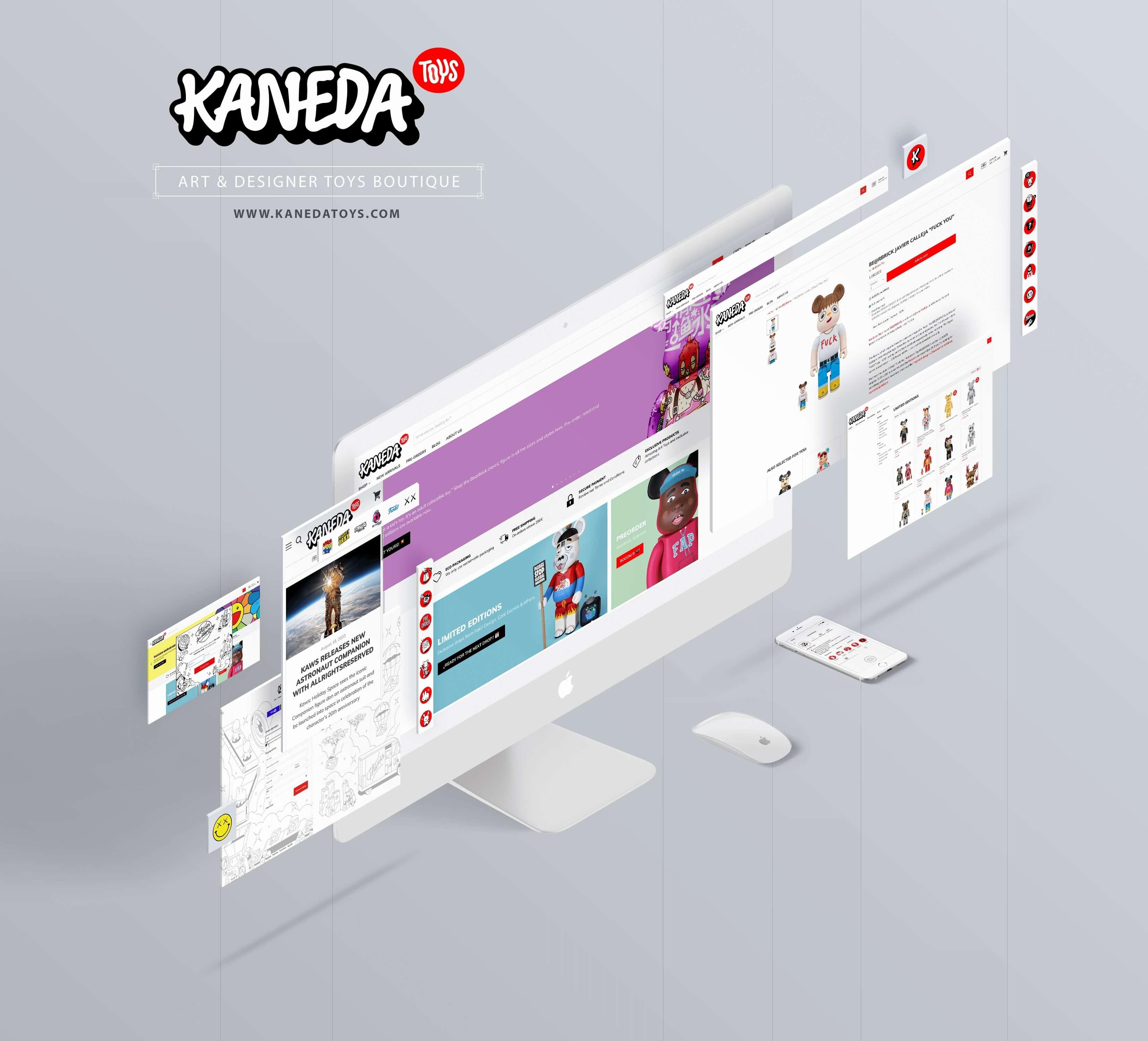 Kaneda Toys Mockup Web Online Shop