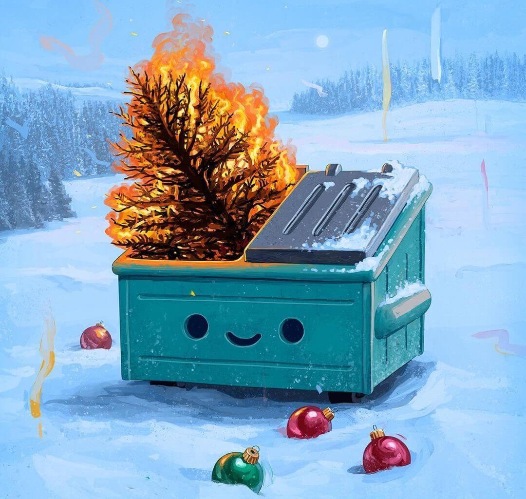 100 Soft Dumpster Fire