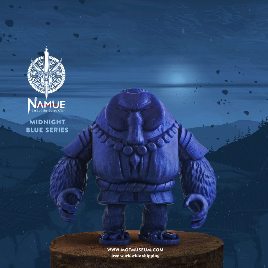 Namue Last of the Boreo Clan Art Toy Sofubi Museum of Toys Midnight Blue