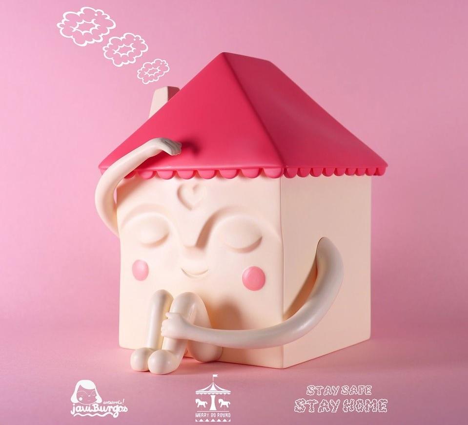 Stay Home Pink Vers Javier Gonzalez Burgos Merry Go Round Art Toy