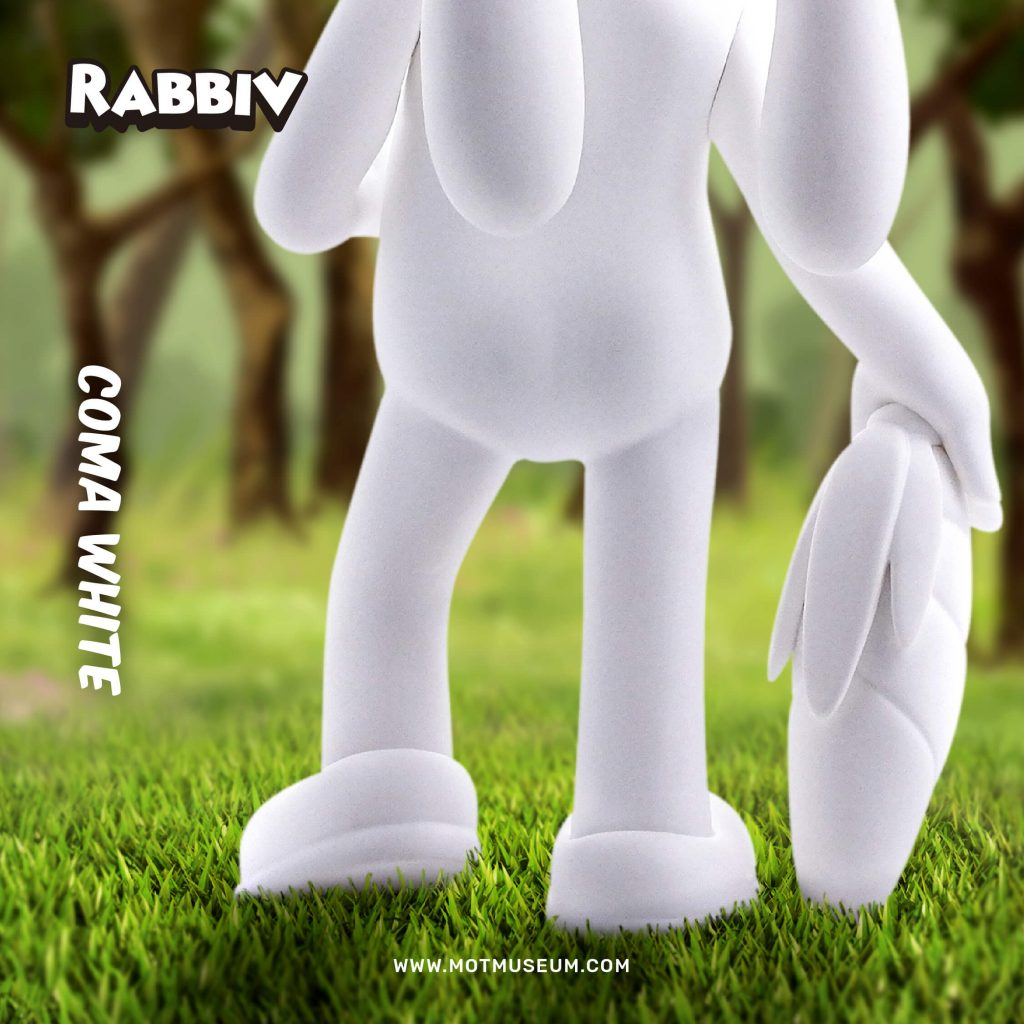 Rabbiv Vinyl Toy Arkiv Vilmansa Museum of Toys Coma White