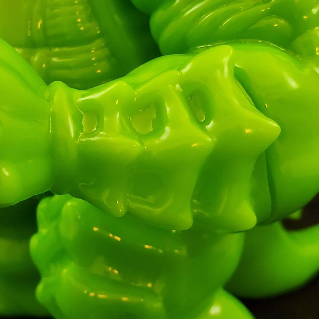 Ragnar Vinyl kaiju Neon Green Last Bastion Studios Art Toy Sofubi