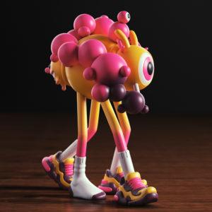 Concurso Ganji exKlusive 6 Forest Zeptiror Art Toy Kickstarter