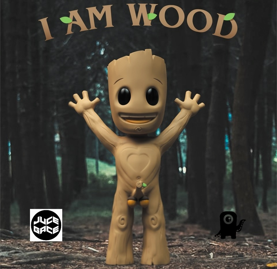 I AM WOOD Juce Gace Art Toy